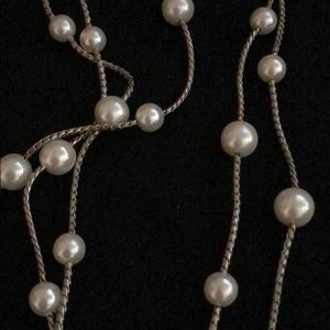 Long strand of pearls